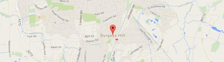 Burgess Hill Map