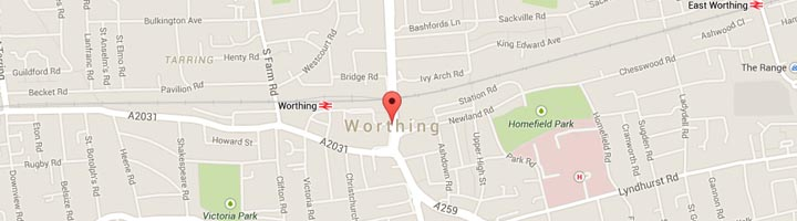 Worthing Map
